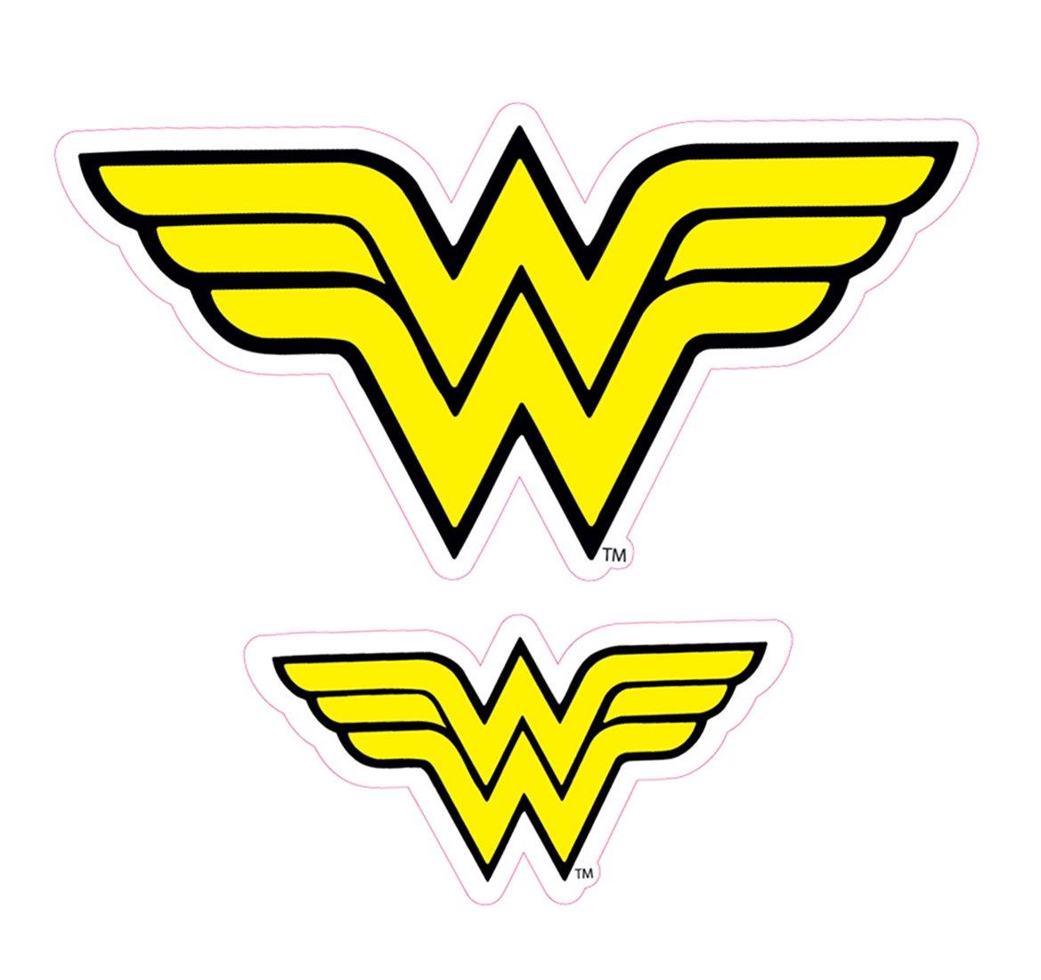 Enjoy It DC Comics Wonder Woman Logo Car Stickers 2 pieces Outdoor Rated Vinyl Sticker Decal