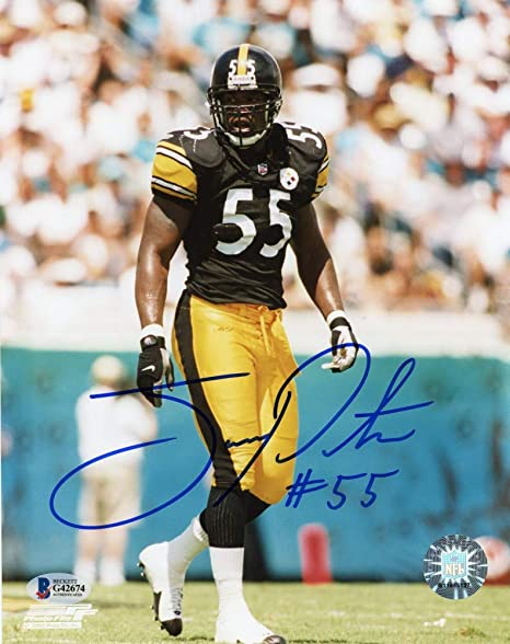 9cac7336bfa Joey Porter Autographed Pittsburgh Steelers 8x10 Photo (Black Jersey) - BAS  COA