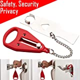 Portable Door Lock for Travelers Inside for Bedroom Door Lockdown Lock for Security Device Home Apartment Living Hotel…