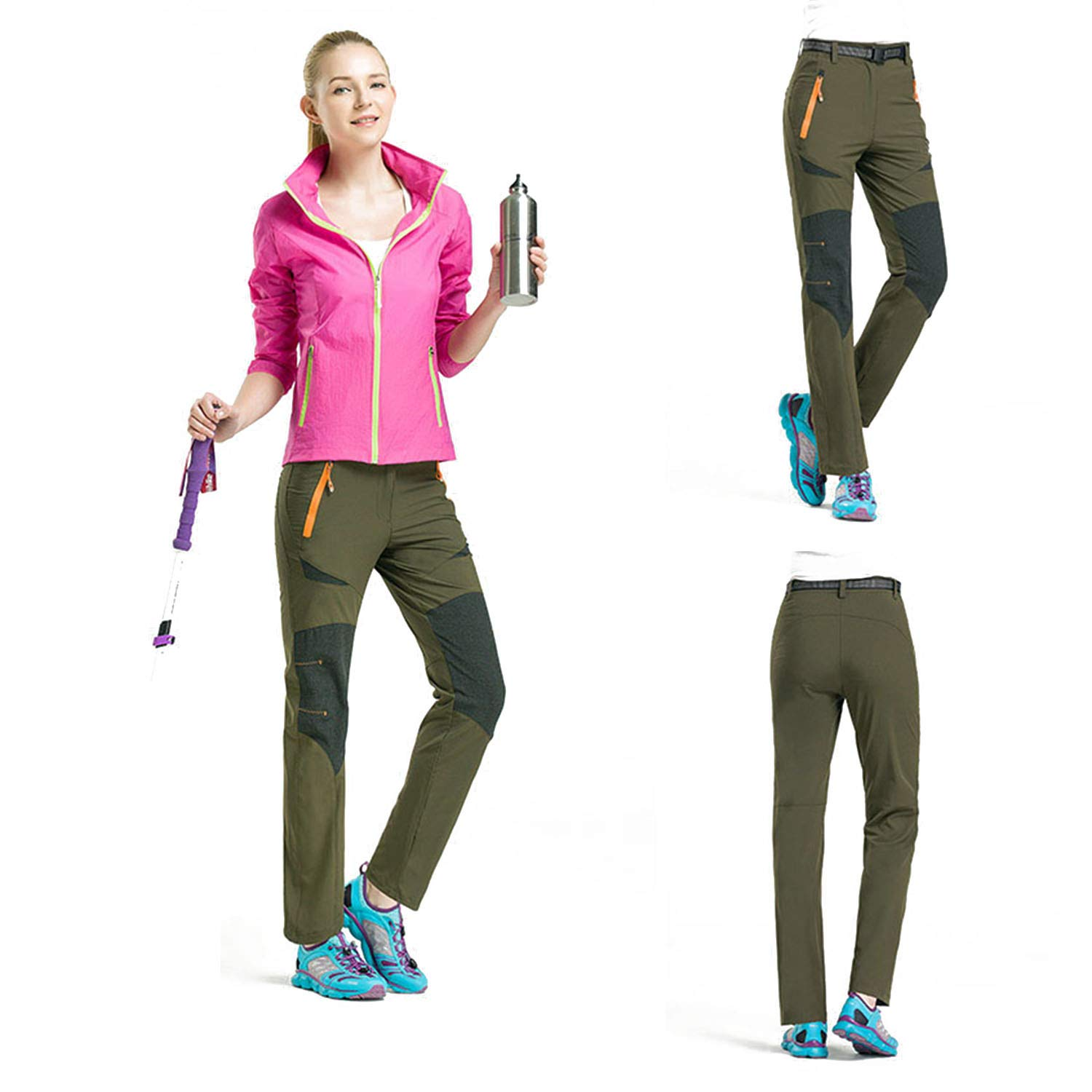 LHHMZ Femmes Pantalon de randonn/ée Imperm/éable Coupe-Vent Respirant Sports de Plein air Escalade Fonctionnement Jogging Pantalon d/équitation