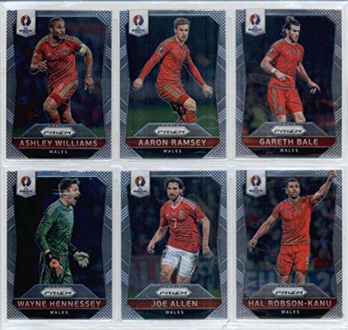2016 Panini Prizm UEFA Euro '16 Wales Combine Set of 10 Cards: Gareth Bale(#118), Aaron Ramsey(#119), Ashley Williams(#120), Hal Robson-Kanu(#121), Joe Allen(#122), Wayne Hennessey(#123), Joe Ledley(#124), Neil Taylor(#125), Ben Davies(#126), Andy Prince(