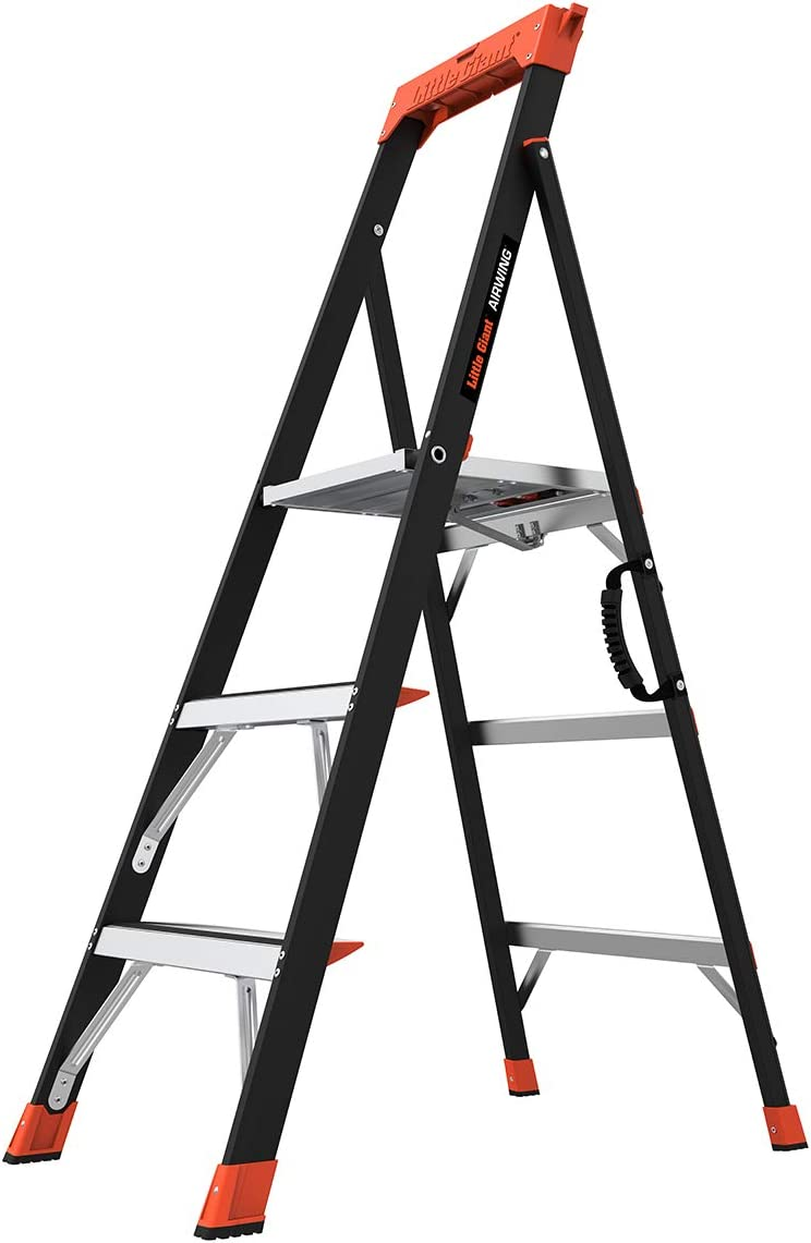 Little Giant Ladders, AirWing, 5 foot, Stepladder, Fiberglass, Type 1AA, 375 lbs weight rating, (15285-001) - -