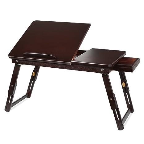 Amazon.com: Homfa - Mesa de bambú para ordenador portátil ...