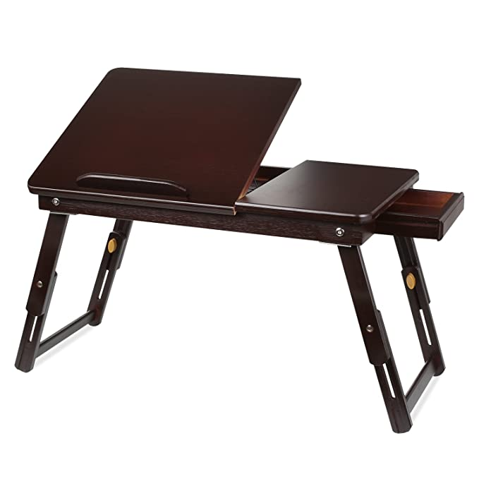 Review HOMFA Bamboo Laptop Desk