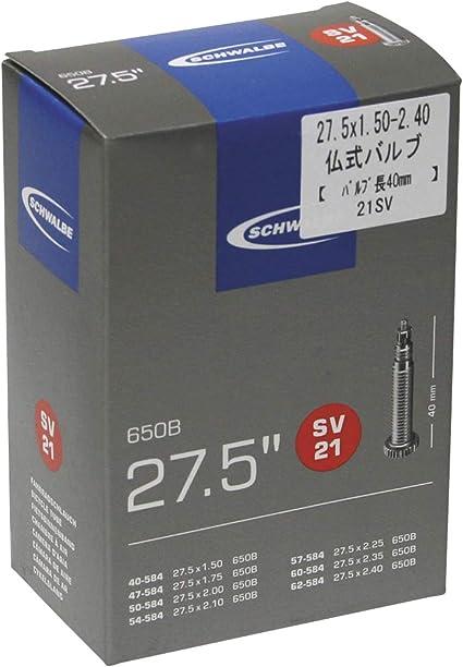 French Valve SV21 SCHWALBE 27.5 x 1.50 650B Inner Tube 40mm Presta