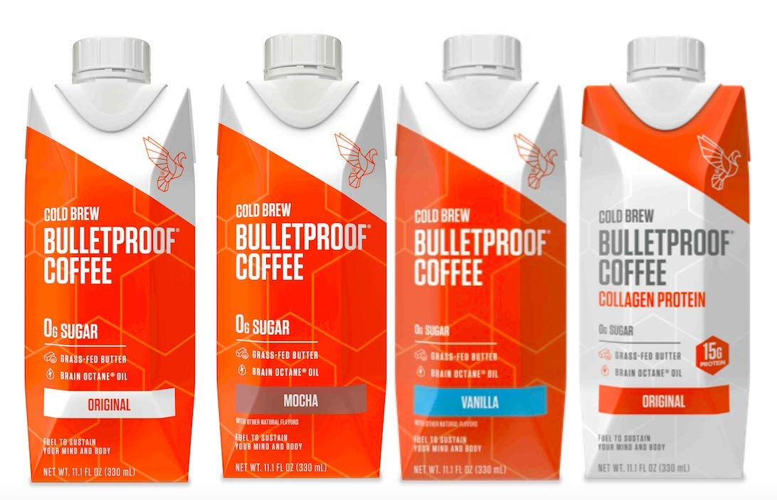 Bulletproof Cold Brew Coffee, Keto Friendly, Sugar Free, with Brain Octane oil and Grass-fed Butter (Variety 4-pack) by Bulletproof