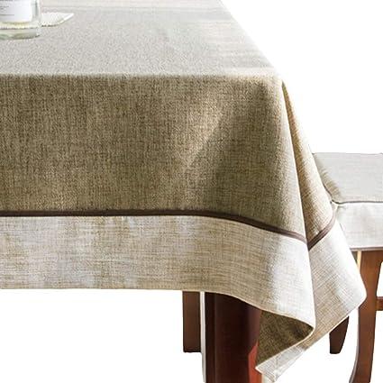Mantele algodón y Lino Rectangular, tapete de Mesa de café para Sala de Estar Comedor
