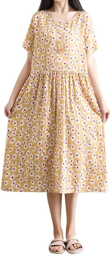 Logobeing Vestidos Vestidos Mujer Casual Verano Mujer Tallas Grandes Vestidos De Fiesta Mujer Largos Elegantes Vestidos Largos De Fiesta Mujer Amarillo M Amazon Es Ropa Y Accesorios