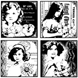 Crafty Individuals Unmounted Rubber Stamp 4.75``X7`` Pkg-4 Pretty Young Girls by_athenaexpress