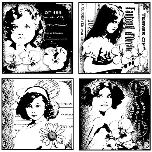 Crafty Individuals Unmounted Rubber Stamp 4.75``X7`` Pkg-4 Pretty Young Girls by_athenaexpress by joimamory