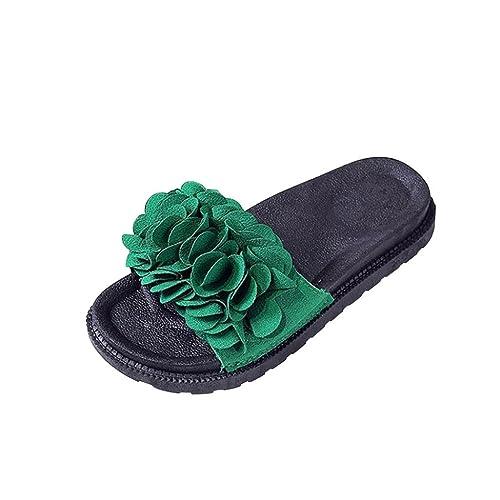 HARRYSTORE Plain Flower Flache Round Toe mit Dickem Boden Sandalen Hausschuhe Sandalen Damen Fashion Solid Color