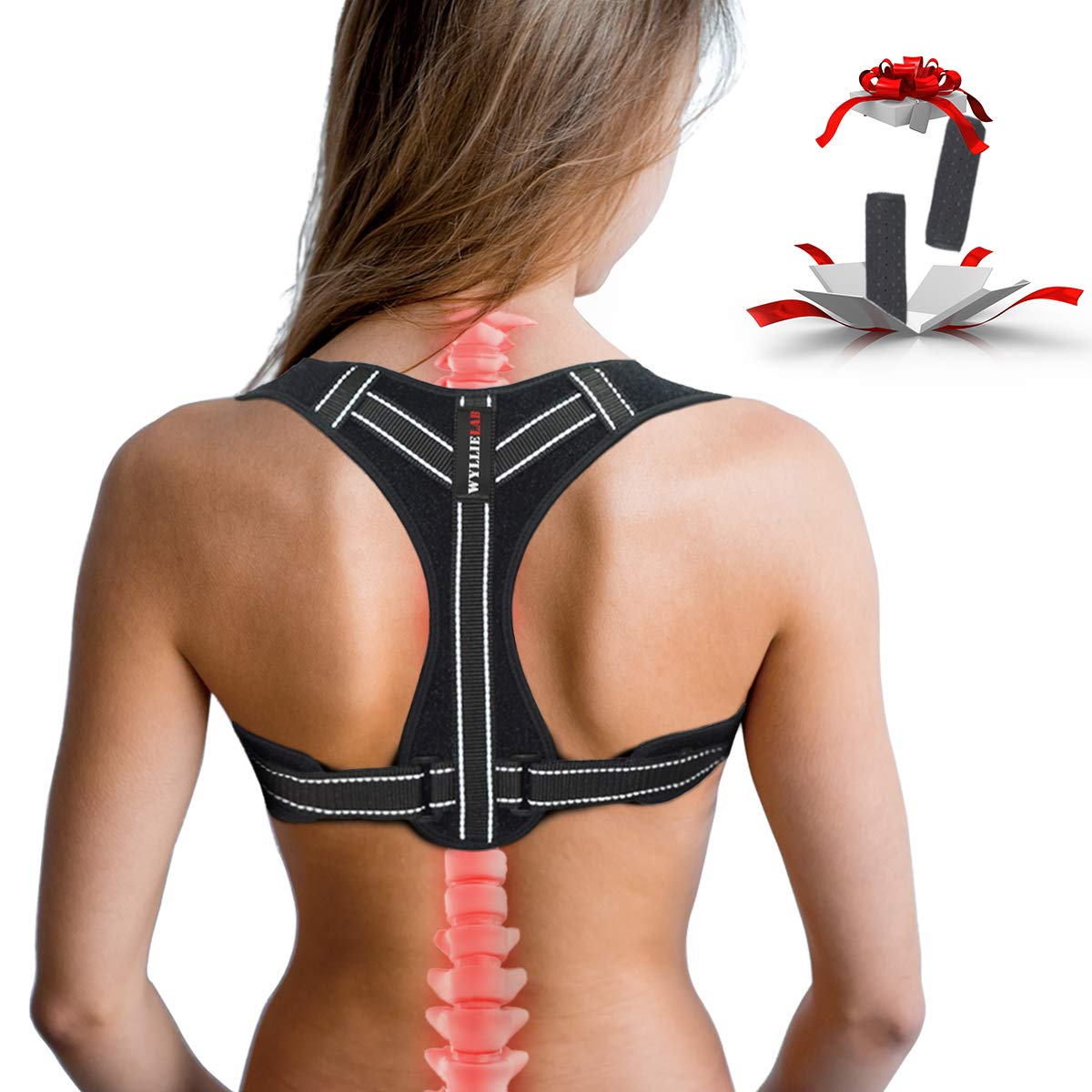 Posture Corrector for Women, Adjustable Back Posture Corrector for Men, Effective Comfortable Best Back Brace for Posture Under Clothes, Back Support Posture Brace for Shoulder and Back Pain Relief by WYLLIELAB