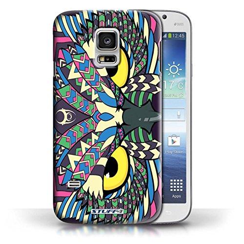 Etui / Coque pour Samsung Galaxy S5 Mini / Hibou-Couleur conception / Collection de Motif Animaux Aztec