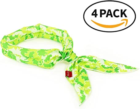 KarenDeals New 2019 Cooling Scarf Outdoor Sports Head to Instantly Chill Out Great for Summer Leisure Activities Wrap Soaked Tie Around Neck Indoor