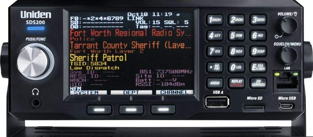 SDS200 Mobile/Base Police Scanner Radio with Bundled Customization Options