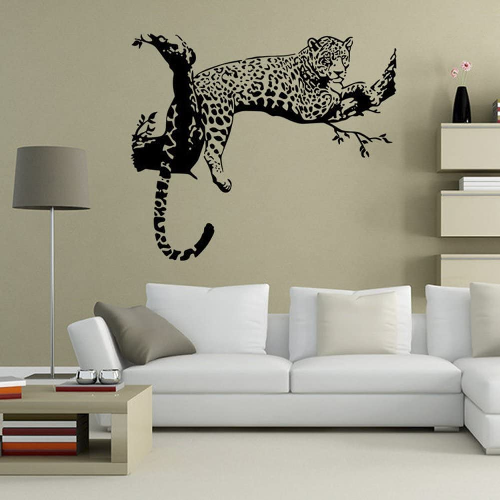 """ChezMax DIY Wall Sticker Decal Mural Removable Self Adhesive Paper Art Deco Tiger 18.9"""" x 31.5"""""""