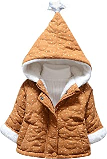 Toddler Girl Boy Winter Warm Thick Cotton Star Printed Hoodies Jacket Cloak Coat
