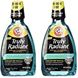 radiant Arm & Hammer Truly Radiant Whitening & Strengthening Sparkling Mint Fluoride Rinse, 16 Fl Oz (Pack of 2)