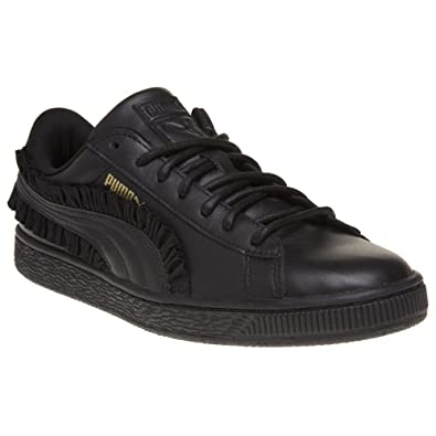 5994bfe78408 Puma Basket Classic Frill Trainers Black  Amazon.co.uk  Shoes   Bags