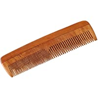 HealthAndYoga(TM) Handcrafted Neem Wood Comb - Anti Dandruff, Non-Static and Eco-friendly- Great for Scalp and Hair…