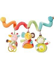 Fehn 074451 Activity- Stoff-Spirale zum Greifen und Fühlen für Bett, Kinderwagen, Laufgitter anpassbar – Für Babys und Kleinkindern ab 0+ Monaten – Maße: 30cm lang