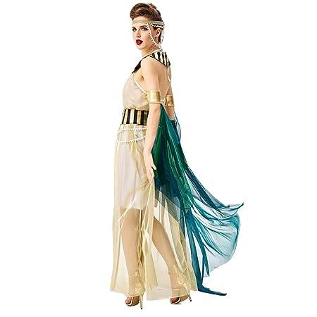 JIANG BREEZE Vestido del Traje de Cleopatra Adulto Mujeres ...