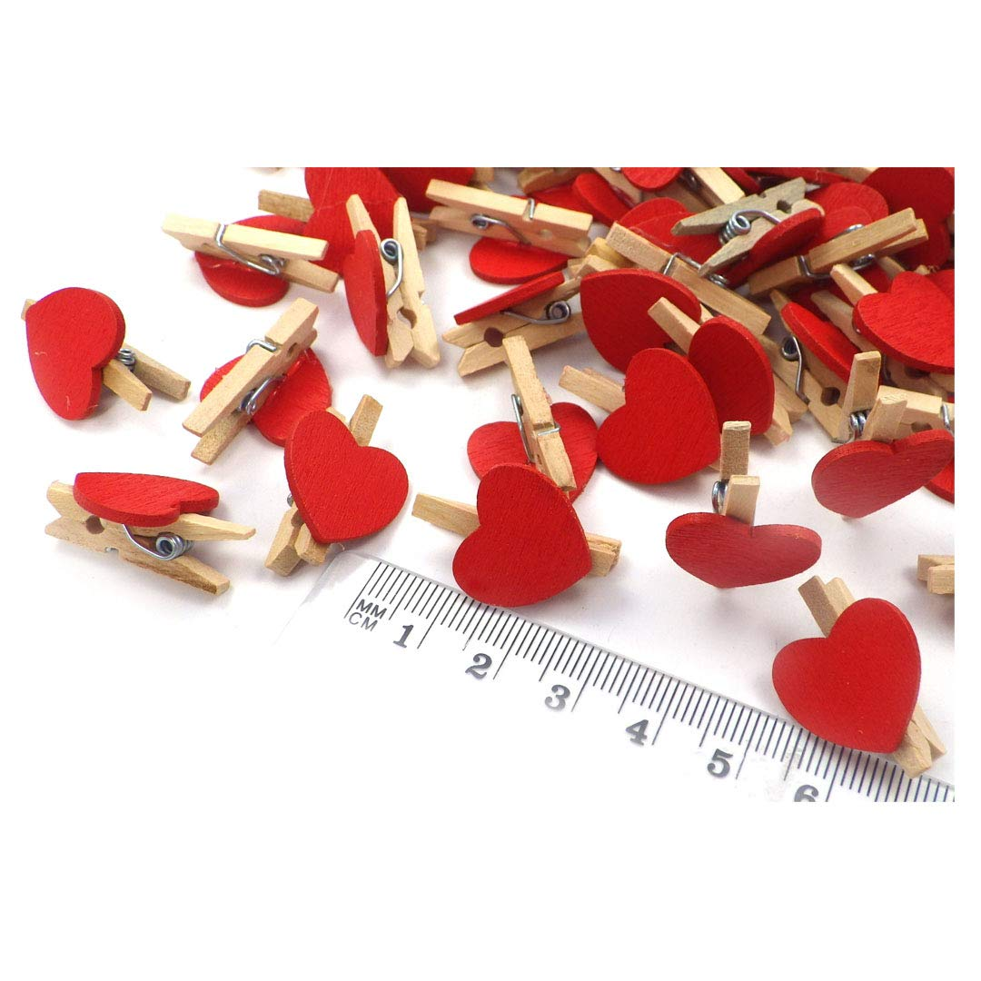 Pinzas de Madera Clips de decoraci/ón Pinzas Decorativas Pinzas Decorativas Sepkina 100 Mini Pinzas de Madera Pinzas de Fotos Pinzas de Ropa