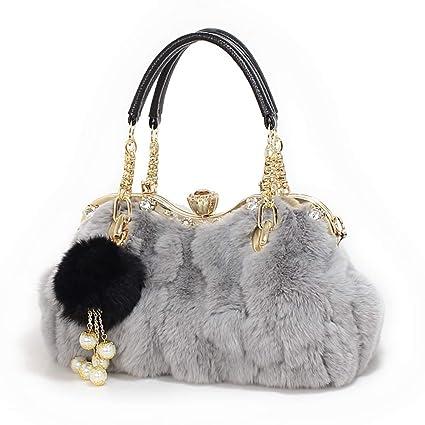 5fc442cf9772 Amazon.com : Kommschonff Women Handbag Messenger Bag, Luxurious Faux ...