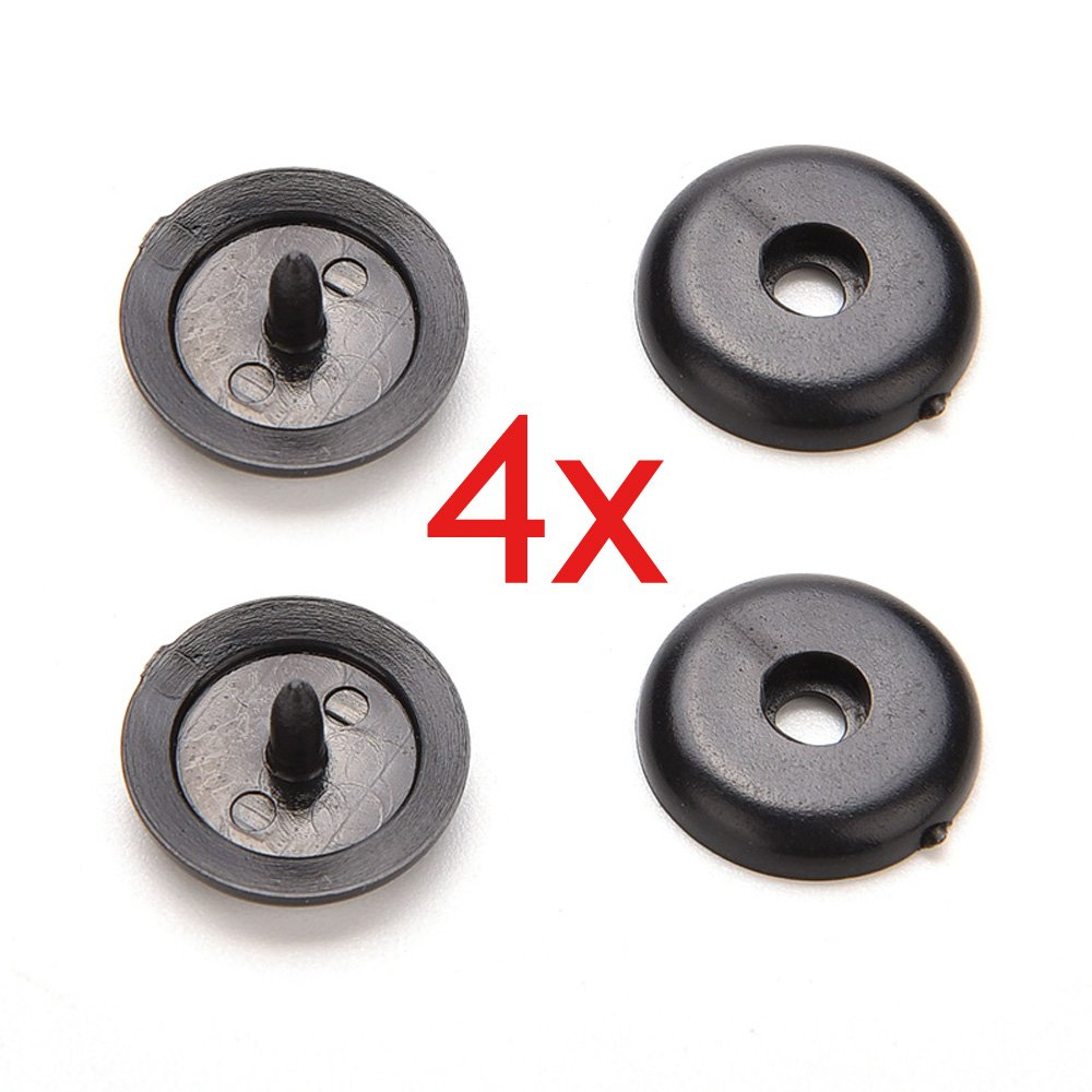 SEAT BELT BUCKLE BUTTONS HOLDERS STUDS RETAINER STOPPER REST X4