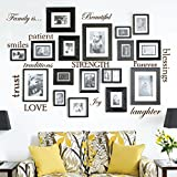 family room designs Set of 12 Family Quote Words Vinyl Wall Sticker Picture Frame Wall Family Room Art Decoration #1332 (Matte Brown)