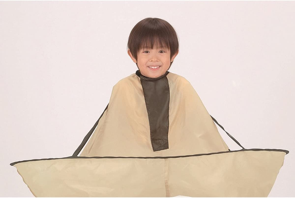 Hair Cutting Cape Adult Foldable Hair Cutting Cloak Umbrella for Salon Barber Special Hair Styling Accessory (Khaki)
