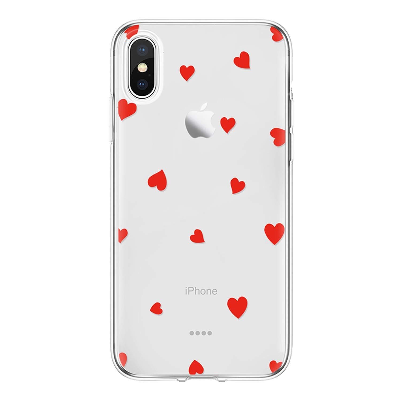 Amazon.com: Love Heart Cover for iPhone 7 6 S 8 Plus Fundas ...