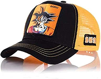 newfashion Gorra Visera Curva Trucker Dragon Ball Goku Negra con ...