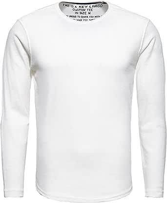 Key Largo Wood-Round - Camiseta de manga larga para hombre