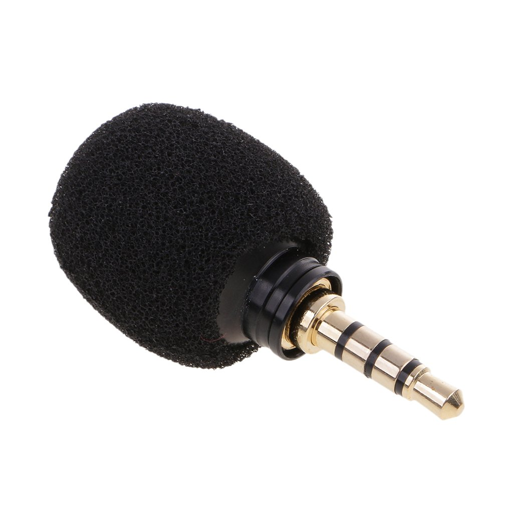 Dovewill Mini Condenser Microphone, 3.5mm Mono,Standard Plug-In Cord Connection for Voice Amplifiers Recording,IOS/Android/Windows Intelligent Devices - Black, Standard 3.5mm Plug