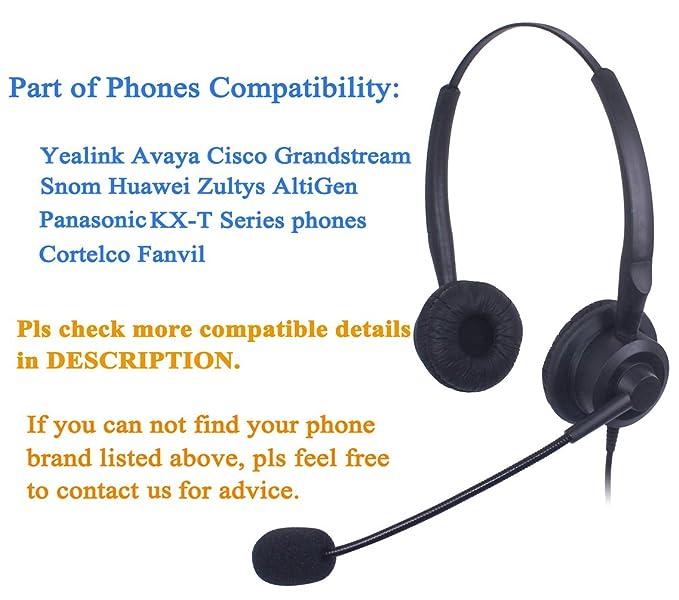 Xintronics Cuffie Telefono Fisso Binaurale RJ9 con Microfono a  Cancellazione del Rumore fcfb924b4ef9