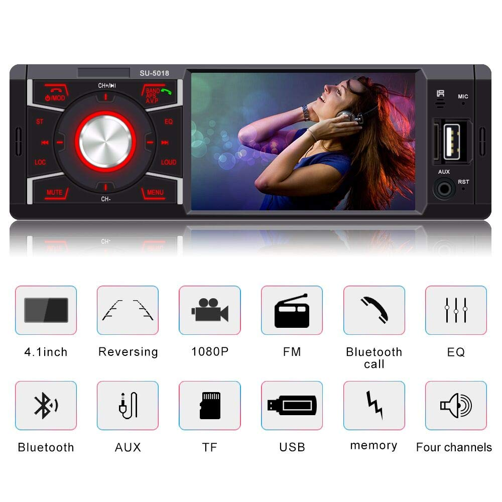 Car Stereo with Bluetooth Double Din 6.2 Inch Touch Screen LCD Radio for Car Support MP3//USB//SD//FM receiver Wireless Remote