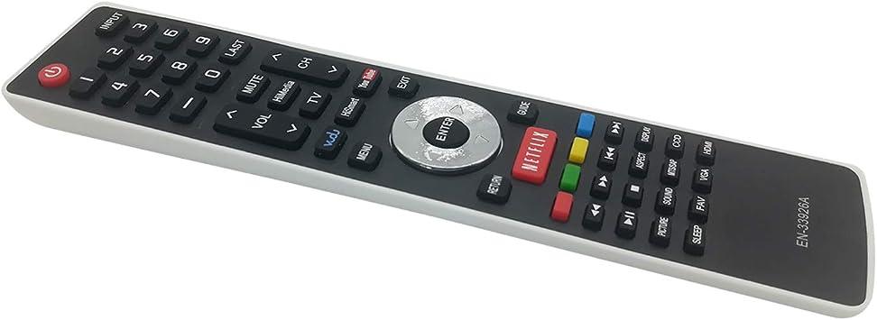 Mando a Distancia de Repuesto para Hisense Smart Internet TV EN-33925A 32K366W 40K366WB 32K20DW 32K20W 40H5 50K610GWN 55K610GWN XV5849 32H5B 40H5B 40K366WN: Amazon.es: Electrónica