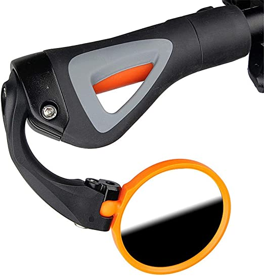 Lwieui-YDHW Espejo retrovisor Seguro para Bicicleta Espejo de Manillar de Bicicleta de Carretera Ajustable HD Barra de Bicicleta Extremo Seguro Espejo retrovisor retrovisor 7.5cm Espejo de Ciclo: Amazon.es: Hogar