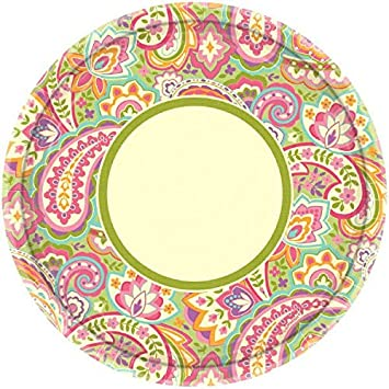 Amscan Disposable Pretty Paisley Round Dinner Paper Plates Party Supply (8 Pack) 10u0026quot  sc 1 st  Amazon.com & Amazon.com: Amscan Disposable Pretty Paisley Round Dinner Paper ...
