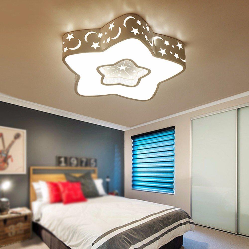 XHOPOS HOME Children'S Room Ceiling Light LED Modern Creative Cartoon Stars Moon Boys Girls Bedroom 50Cm Warm Light