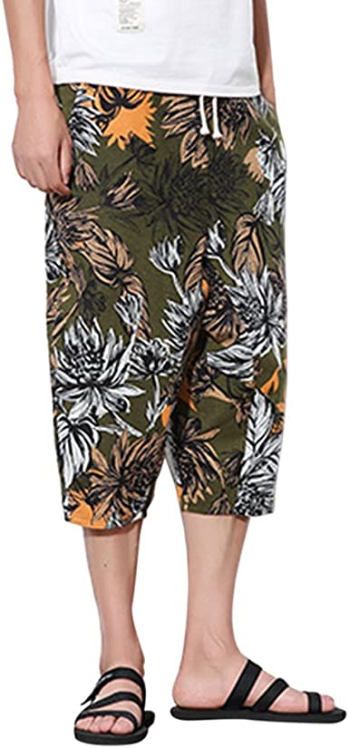 Zhuhaitf Hawaii Boho Thai Hippie Yoga Pantalones Harem-Hombre ...