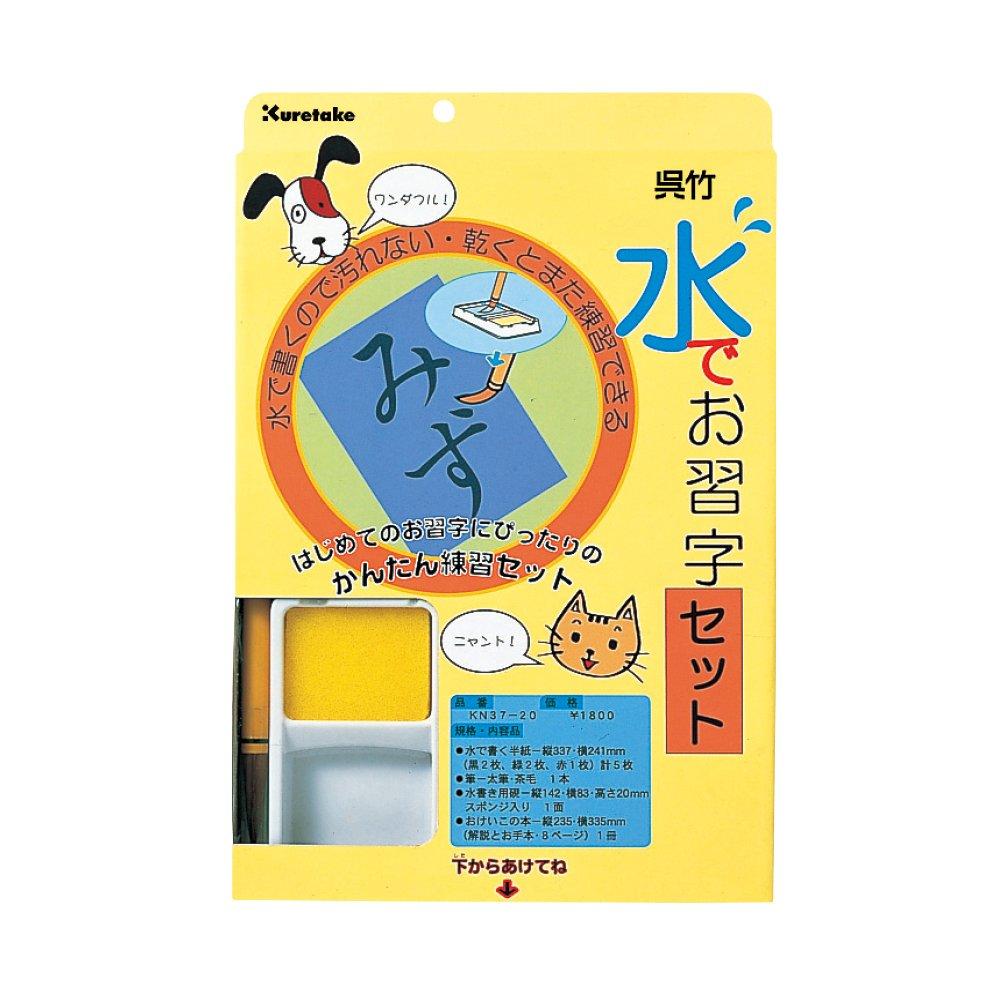 (10セット) 水書き書道 水でお習字 セット 呉竹 KN37-20