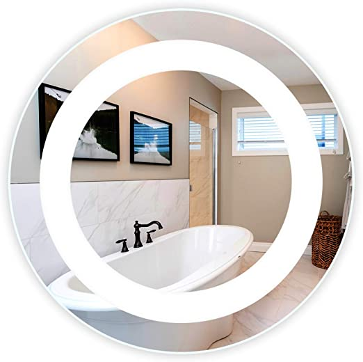 Led Side Lighted Bathroom Vanity Mirror 20 Wide X 28 Tall Wall Mounted Commercial Grade Oval