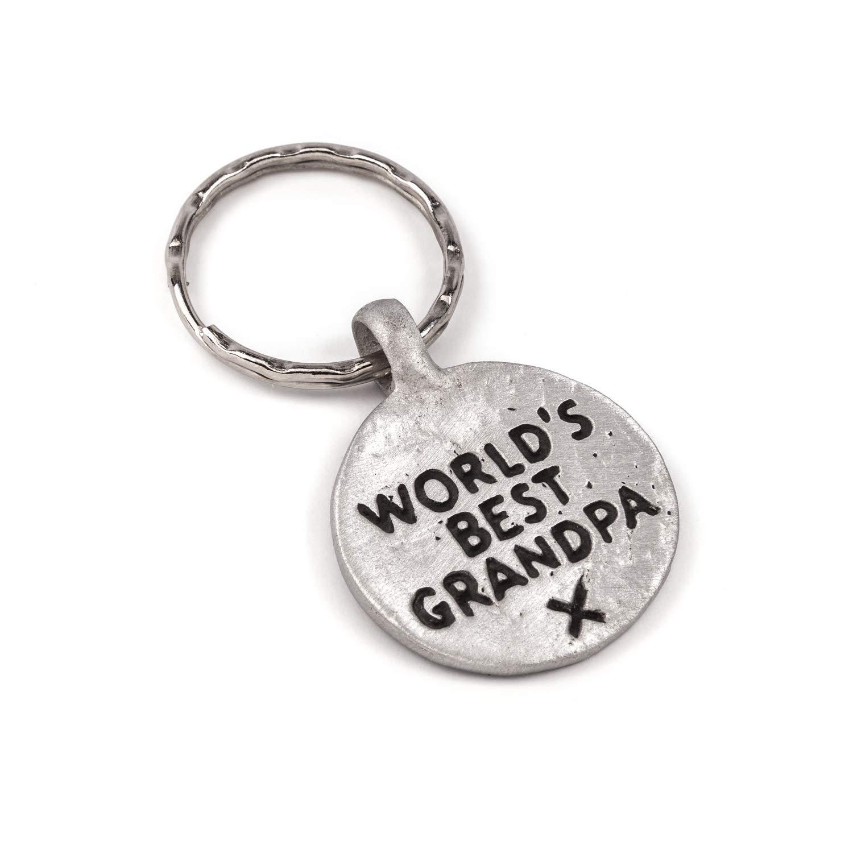 Worlds Best abuelo - Llavero de metal, diseño de: Amazon.es ...