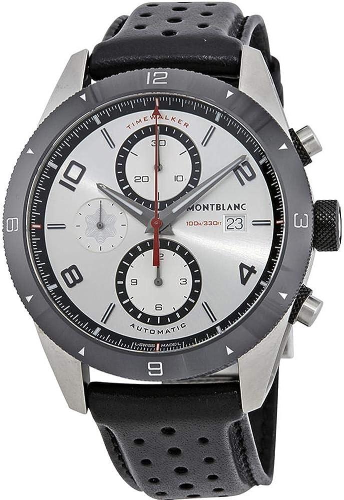 Amazon.com: Montblanc TimeWalker Silver Dial Automatic Mens ...