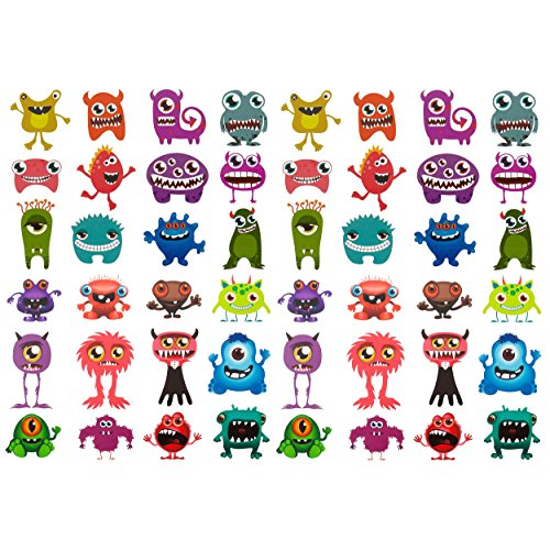 Oblique-Unique® 48 lustige bunte Monster Tattoo ´s