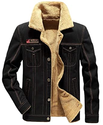 cc8a0b681369 RRINSINS Men Outwear Thick Washed Winter Fleece Lined Parka Coat Jacket at  Amazon Men's Clothing store: