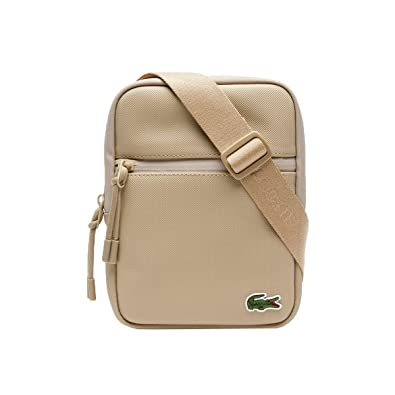 7f1bcfd5dca Lacoste Mens L.12.12 Canvas Small Zip Bag - Incense - 0: Amazon.co.uk:  Shoes & Bags