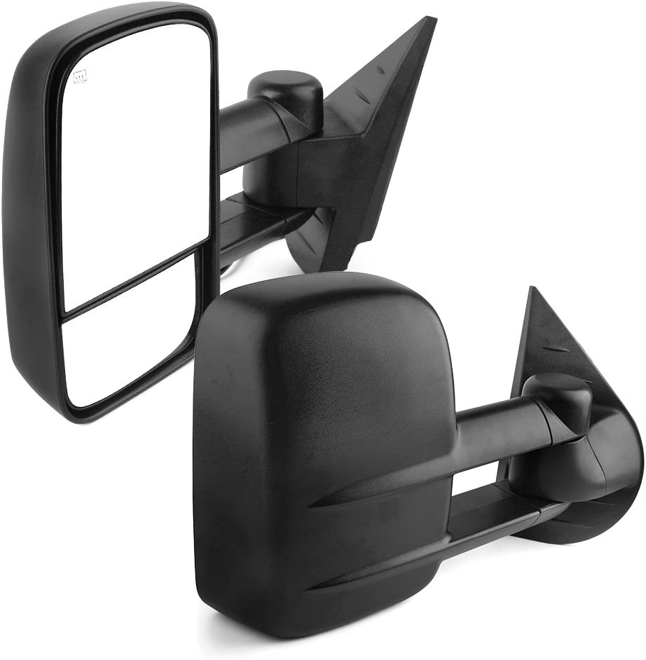 Driver Side Power+Heated Extendable Towing Mirror for 07-14 Sierra//Yukon Left